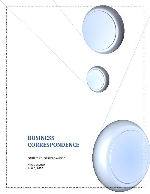 BUSINESS CORESPONDECE