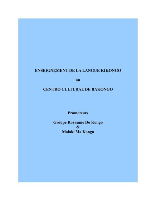COURS DE LA LANGUE KIKONGO KIMBANGUMUNAConjugaison 5ème Leçon