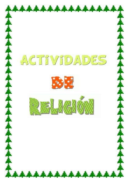 Actividades de religión tema 3