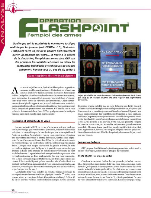 Operation Flashpoint - Analyse : l'emploi des armes