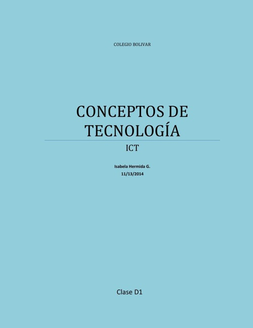 CONCEPTOS DE TECNOLOGÍA