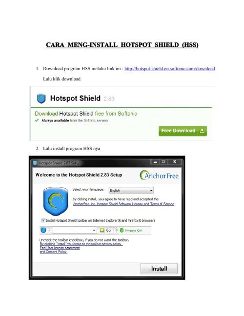 Cara Meng-install HSS
