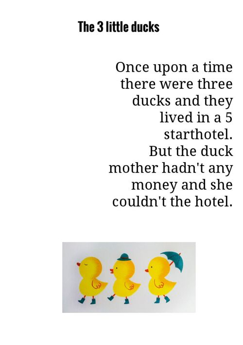 The 3 little ducks