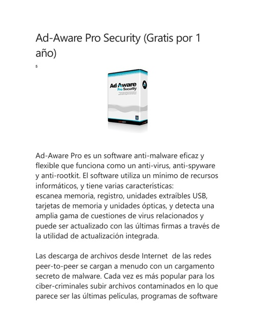Ad-Aware Pro Security (Gratis por 1 año)