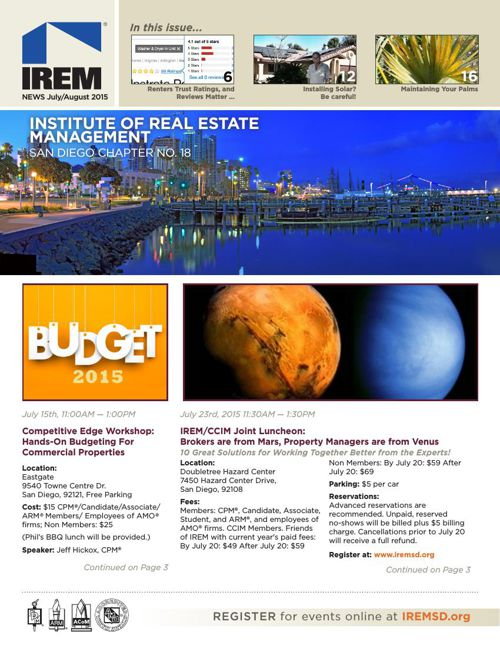 IREMSD July/August 2015