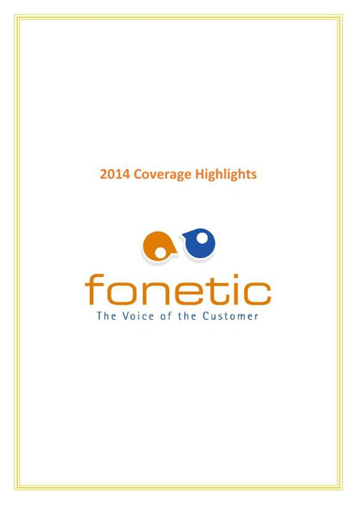 Fonetic Coverage Highlights 2014