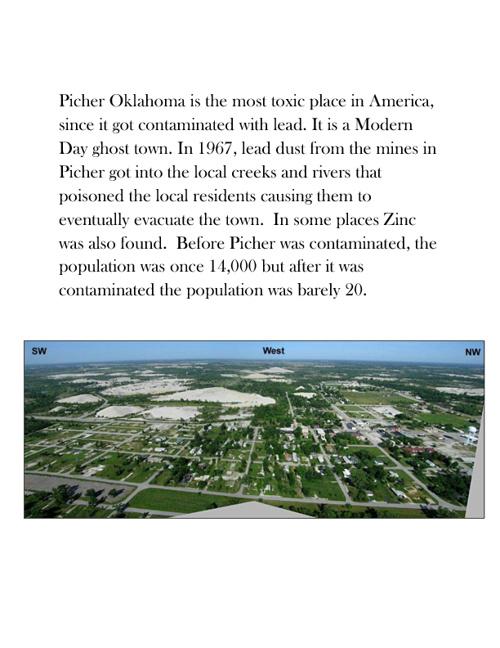 PICHER OKLAHOMA- LEAD AND ZINC CONTAMINATION