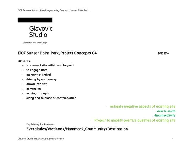 Sunset Point Park Study