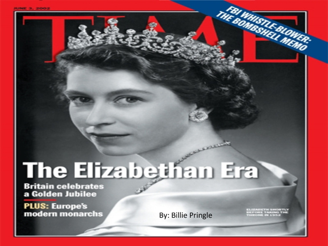 Elizabethan Era-Billie Pringle