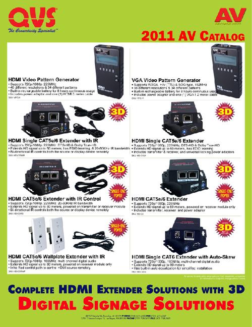 QVS 2011 AV Catalog