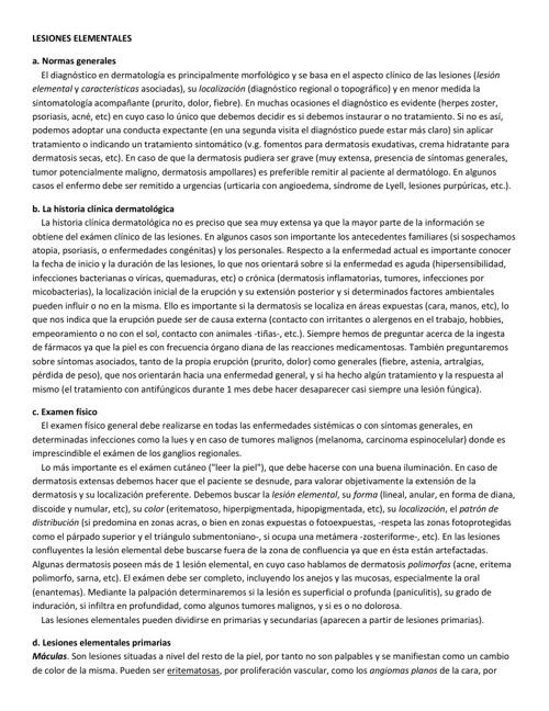 LESIONES ELEMENTALES DERMATOLOGICAS ARTICULO