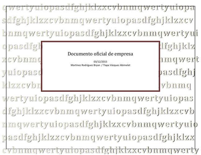Documento oficial de empresa