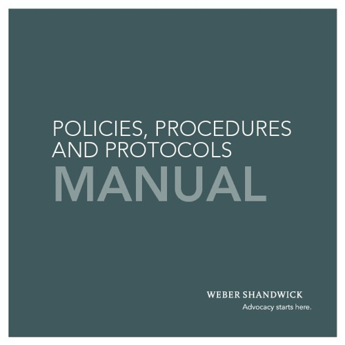 Copy of Weber Shandwick Policies,Procedures and Protocols Manual