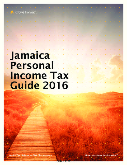 Jamaica Personal Income Tax Guide  2016 Edition (1)