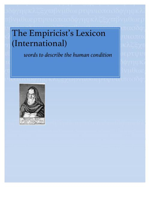 The Empiricists Lexicon e edition_ compiled by The Aktuel Transl