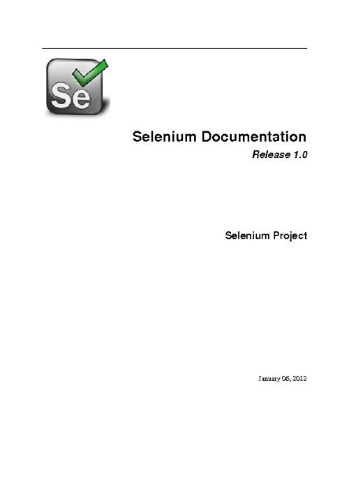 Selenium Documentatioin