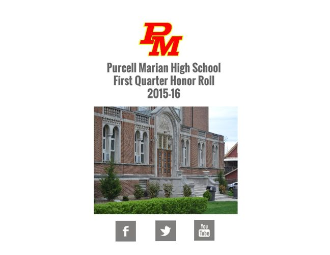Purcell Marian First Quarter Honor Roll 2015-16