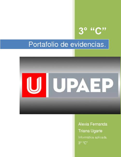Portafolio digital. Alexia Fernanda Triana Ugarte.