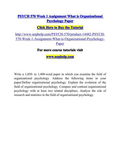 PSYCH 570 ACADEMIC COACH / UOPHELP