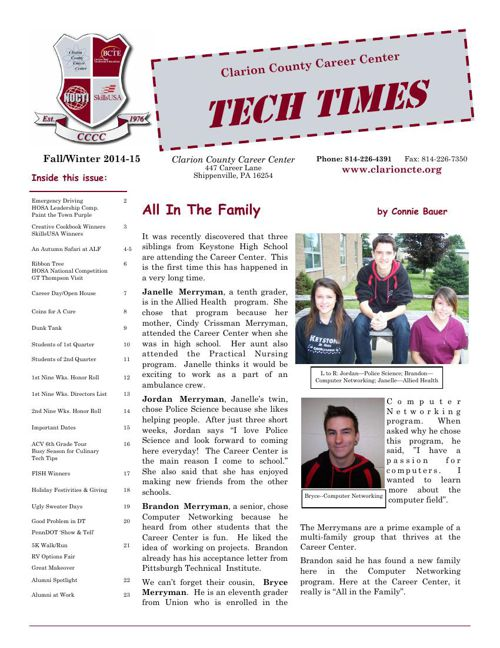 14-15 Winter Newsletter