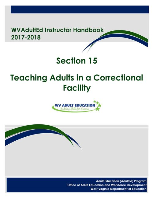 WVAdultEd Instructor Handbook 2015 - 2016 Section 15
