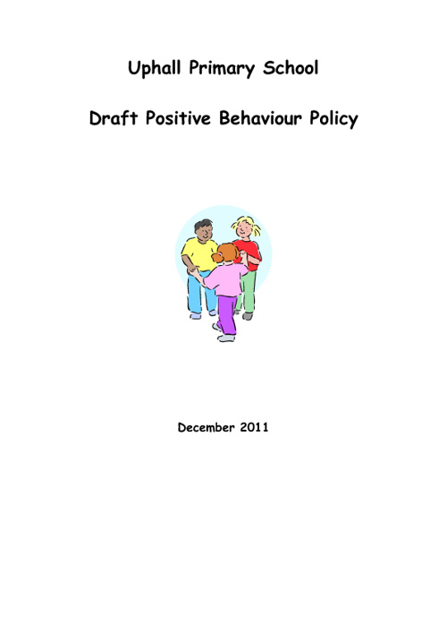 Draft Positive Behaviour Policy Dec 2011