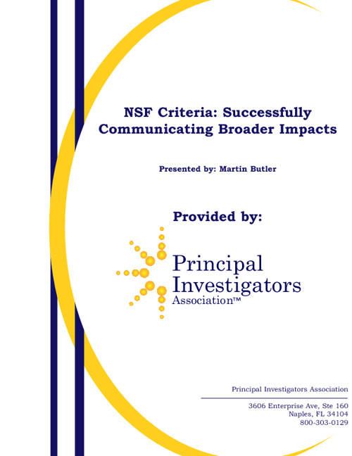 HANDOUTS_NSF Broader Impacts