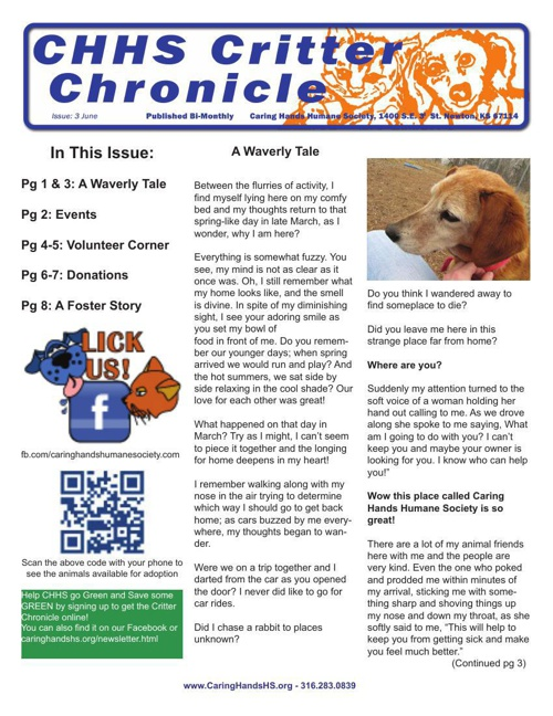 Critter Chronicle Issue 3 June 2014