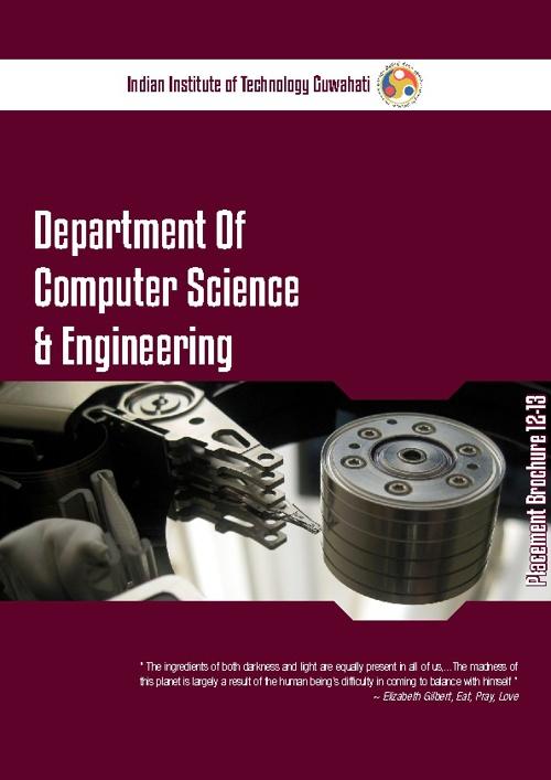 IITG CSE Dept Placement Brochure