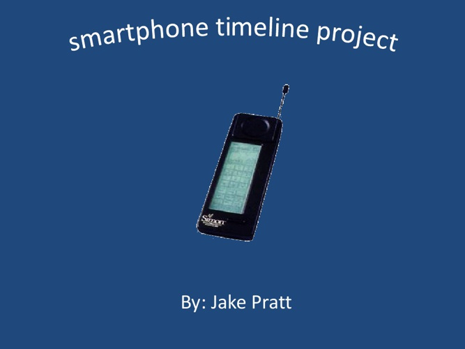 Cell phone timeline project