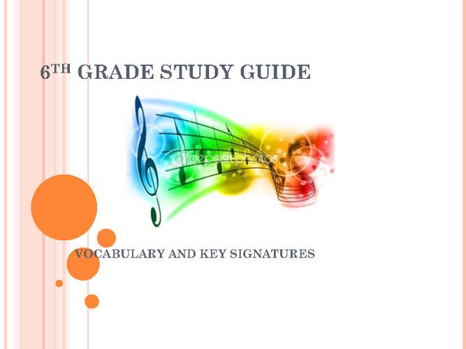 6th Grade Study Guide