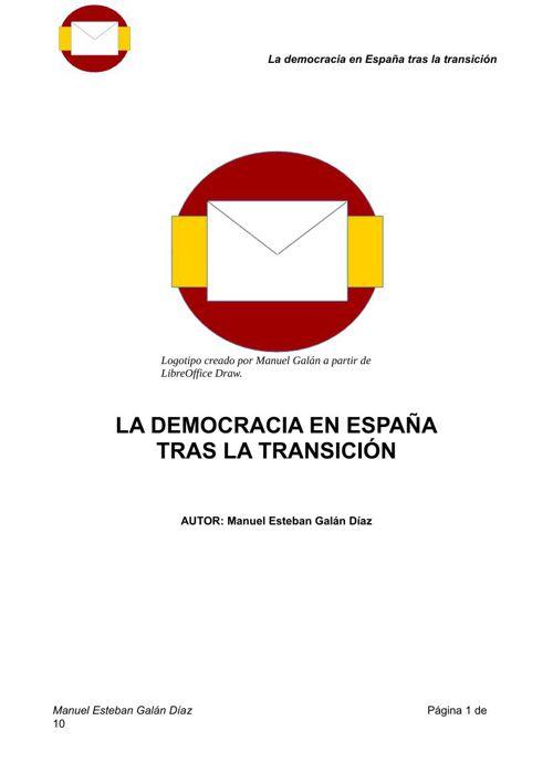 La Democracia en España tras la transición.