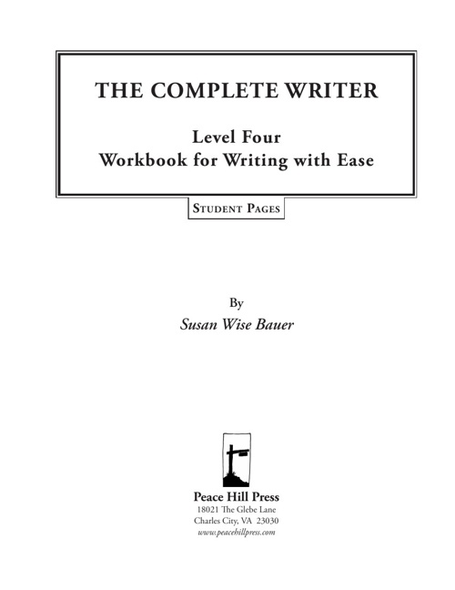 THE COMPLETE WRITER Level Four Workbook for Writing