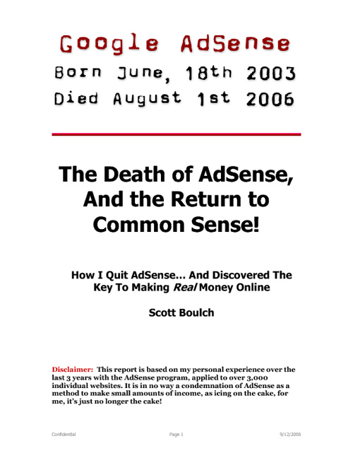 The Death Of AdSense
