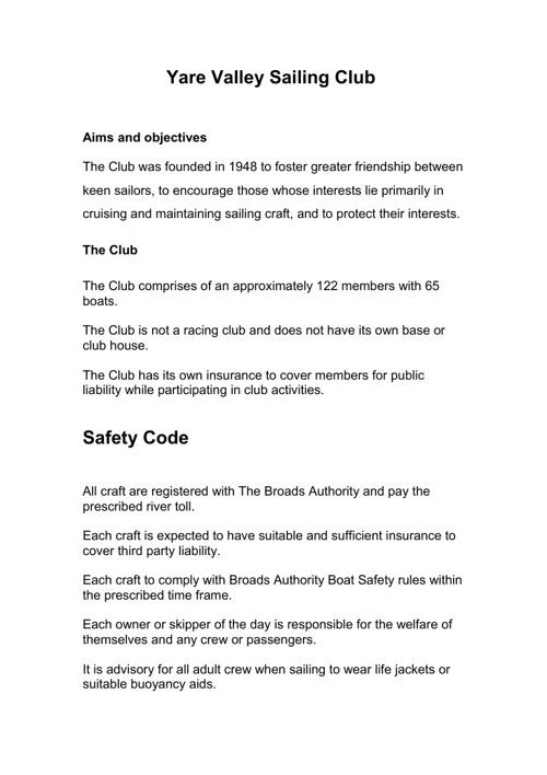 2006 Safety Plan