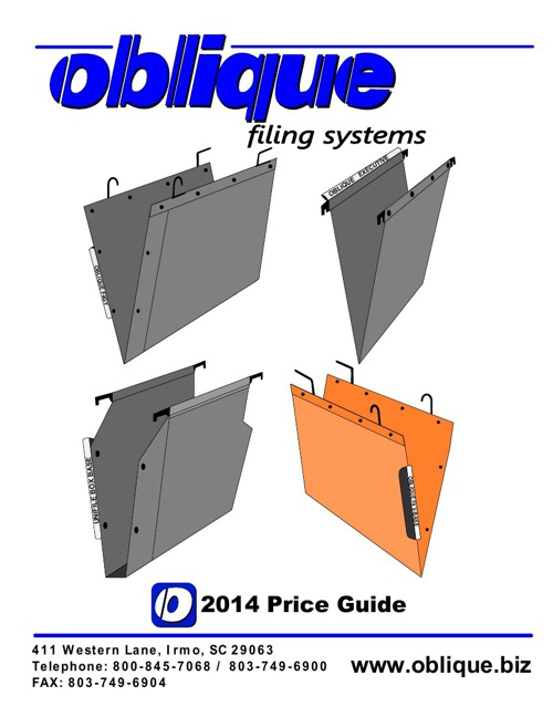 2014 Oblique Filing Systems Price Guide