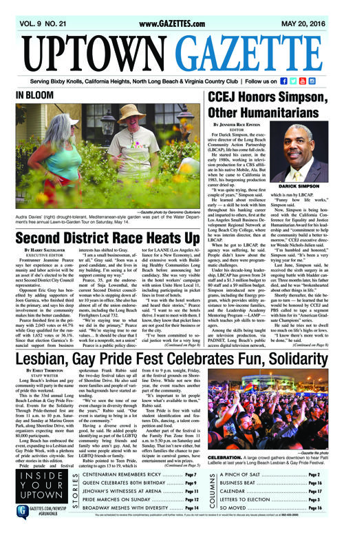 Uptown Gazette  |  May 20, 2016