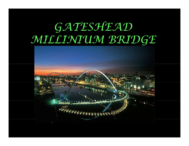gateshead mellinium bridge