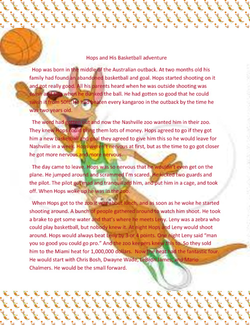 Hops and His Basketball Adventure