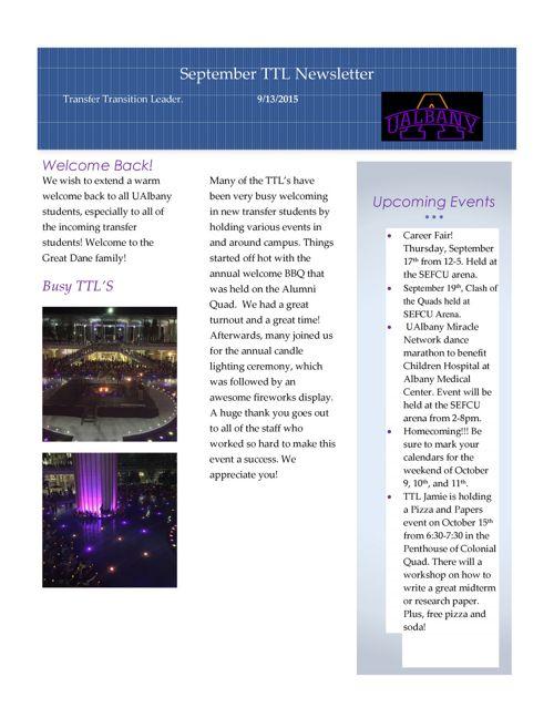 Transfer Newsletter - September 2015