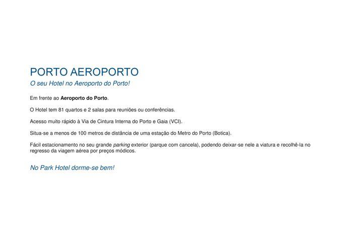 Copy of PORTO AEROPORTO
