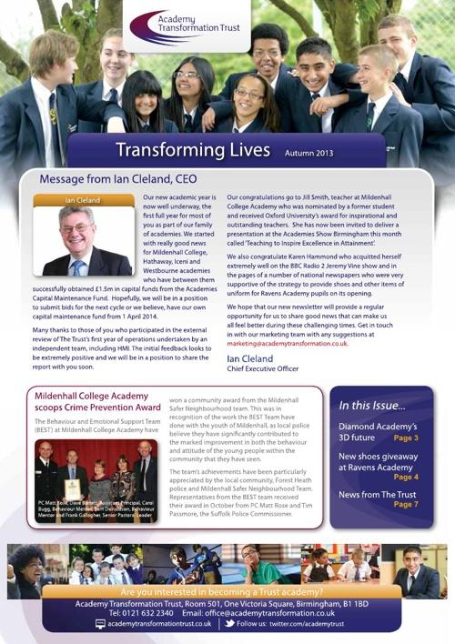 The Trust Newsletter Autumn 2013