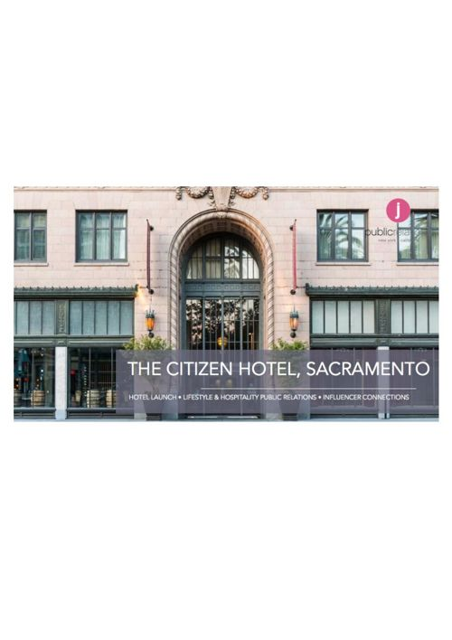 J Public Relations Restaurant Clips for The Citizen Hotel