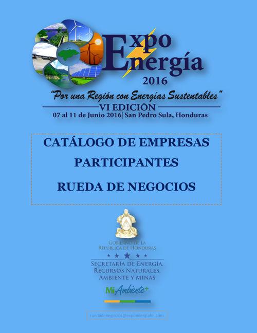 Catálogo Rueda de Negocios Expo Energía 2016
