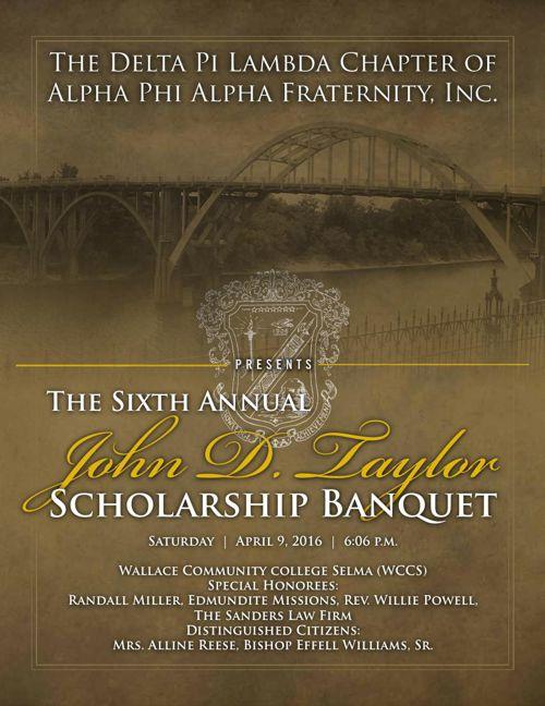 Copy of John D. Taylor 2016 Scholarship Banquet