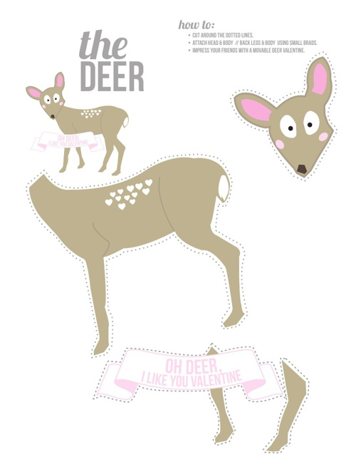 Animals - Valentine printables