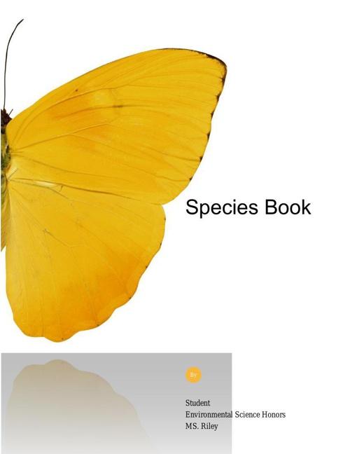 Species Book - Ana Flores