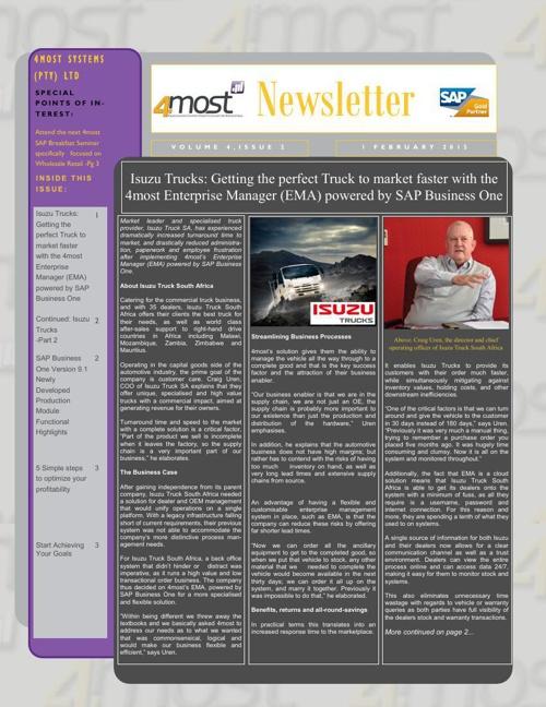 4most Newsletter February 2015
