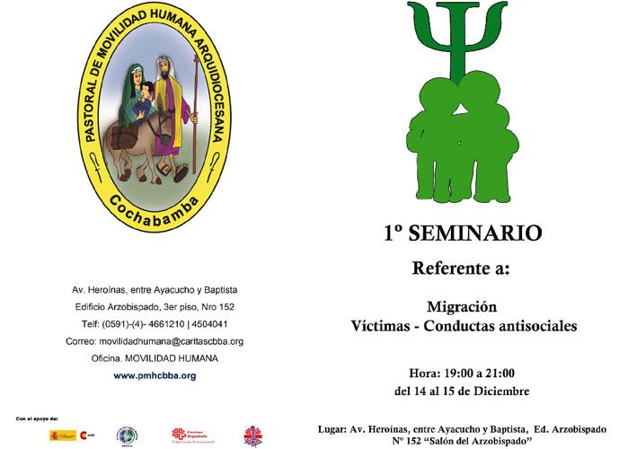 1er Seminario, Migración - Victimas - Conductas Antisociales