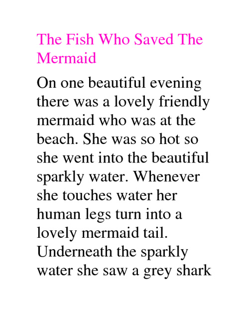 The Fish Who Saved The Mermaid